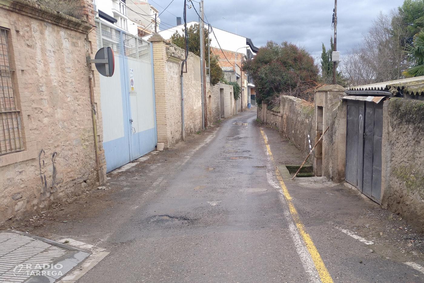 L'Ajuntament de Tàrrega treu a concurs els treballs de millora del carrer de les Astes de Sant Macari