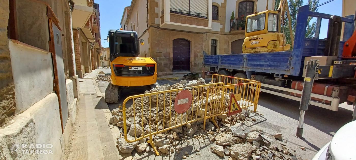 S'inicien les obres a la Raval de Puigverd a Agramunt
