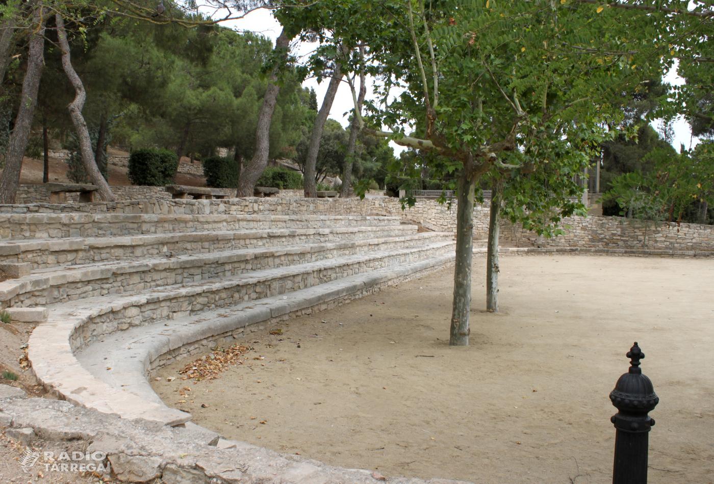 Tàrrega finalitza les obres d'adequació de la plaça de la Bassa, indret del Parc de Sant Eloi que s'ha transformat en espai polivalent