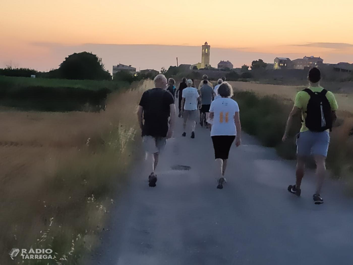 Punt i final a les caminades nocturnes familiars que Bellpuig repetirà l'estiu que ve