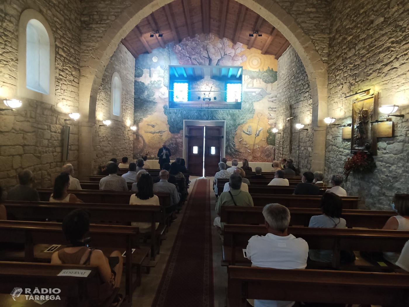Tàrrega inaugura el mural al fresc de Josep Minguell a l'ermita de Sant Eloi i la seu social dels Amics de l'Arbre, coincidint amb Sant Magí