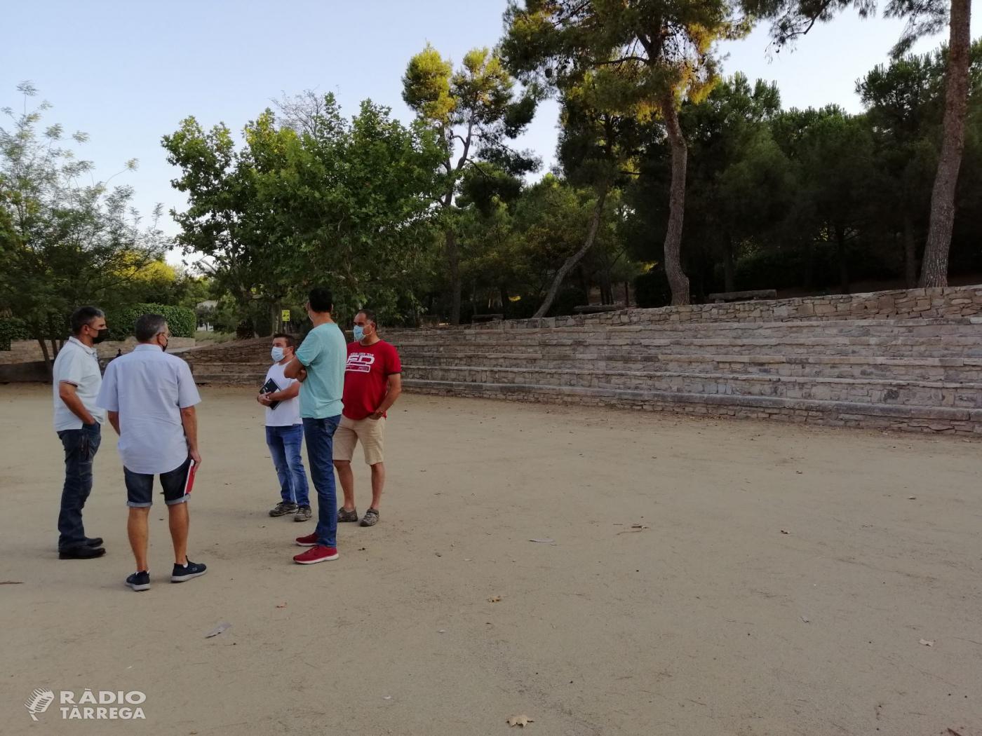 Finalitzen les obres a la plaça de la Bassa del Parc de Sant Eloi de Tàrrega