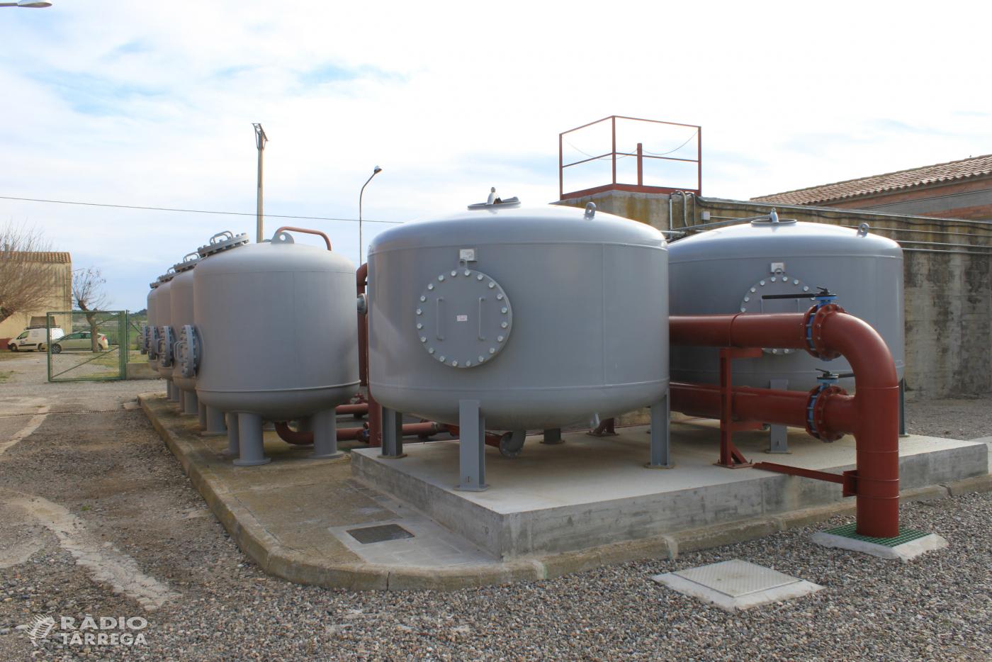 Inversions a Tàrrega per millorar la qualitat del servei de subministrament d'aigua de boca