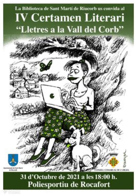 Convocat el IV Certamen Literari la Vall del Corb sota el títol 'Lletres a la Vall del Corb, pandèmia i literatura'