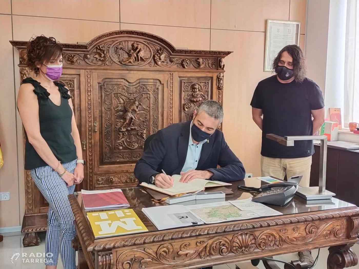 El delegat del govern, Bernat Solé es reuneix a Bellpuig amb l'alcalde i recull les inquietuds del municipi