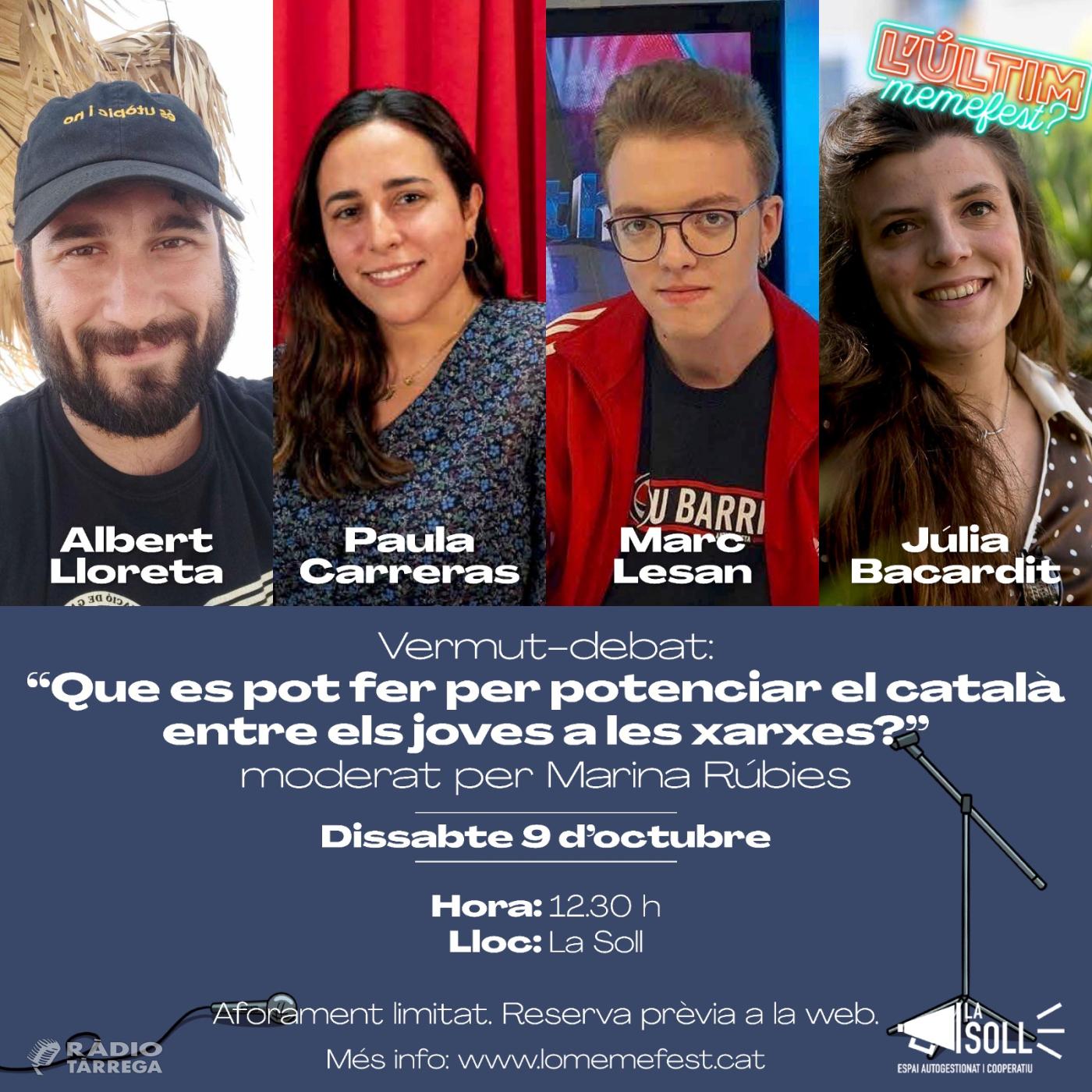 Lo Memefest debatrà com potenciar el català a les xarxes entre els joves amb Albert Lloreta, Paula Carreras, Marc Lesan i Júlia Bacardit