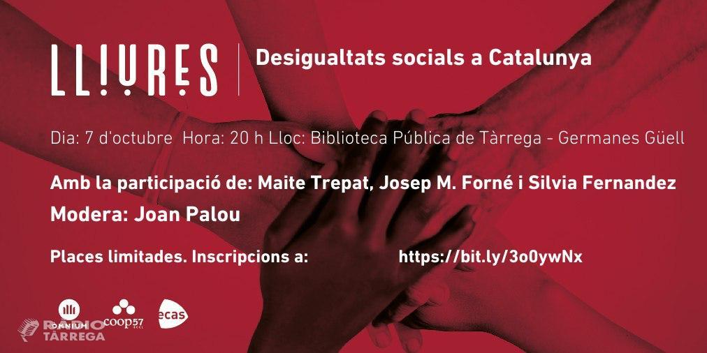 Maite Trepat, Josep M. Forné i Sílvia Fernández participen al debat 'Desigualtats socials a Catalunya'