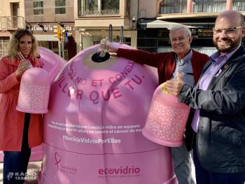Ecovidrio i el Consell Comarcal de l'Urgell presenten la campanya solidària 'Recicla Vidre per elles' en col·laboració amb la Fundació Sandra Ibarra