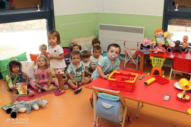 Les dues llars d'infants municipals de Tàrrega inicien el nou curs amb 118 alumnes, xifra que suposa un descens del 13,8%