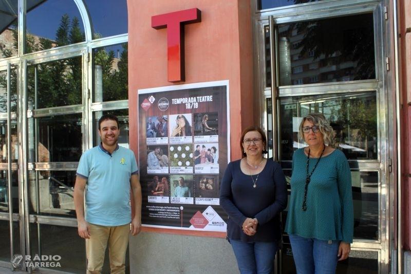 La Temporada de Teatre 2018 – 2019 de Tàrrega portarà 9 destacats espectacles escènics d'octubre a febrer amb intèrprets com Vicky Peña o Joel Joan