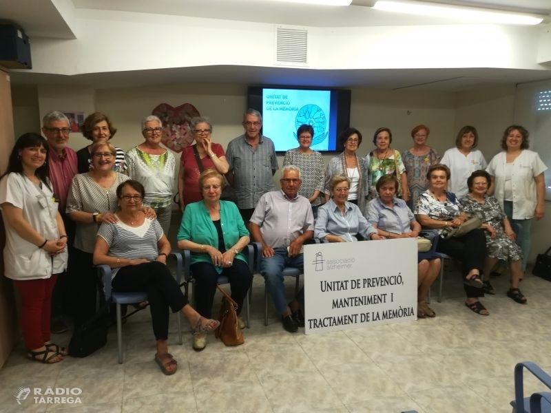18 persones participen a la 4ª edició del curs de prevenció de la memòria a la seu de l'Associació Alzheimer de Tàrrega