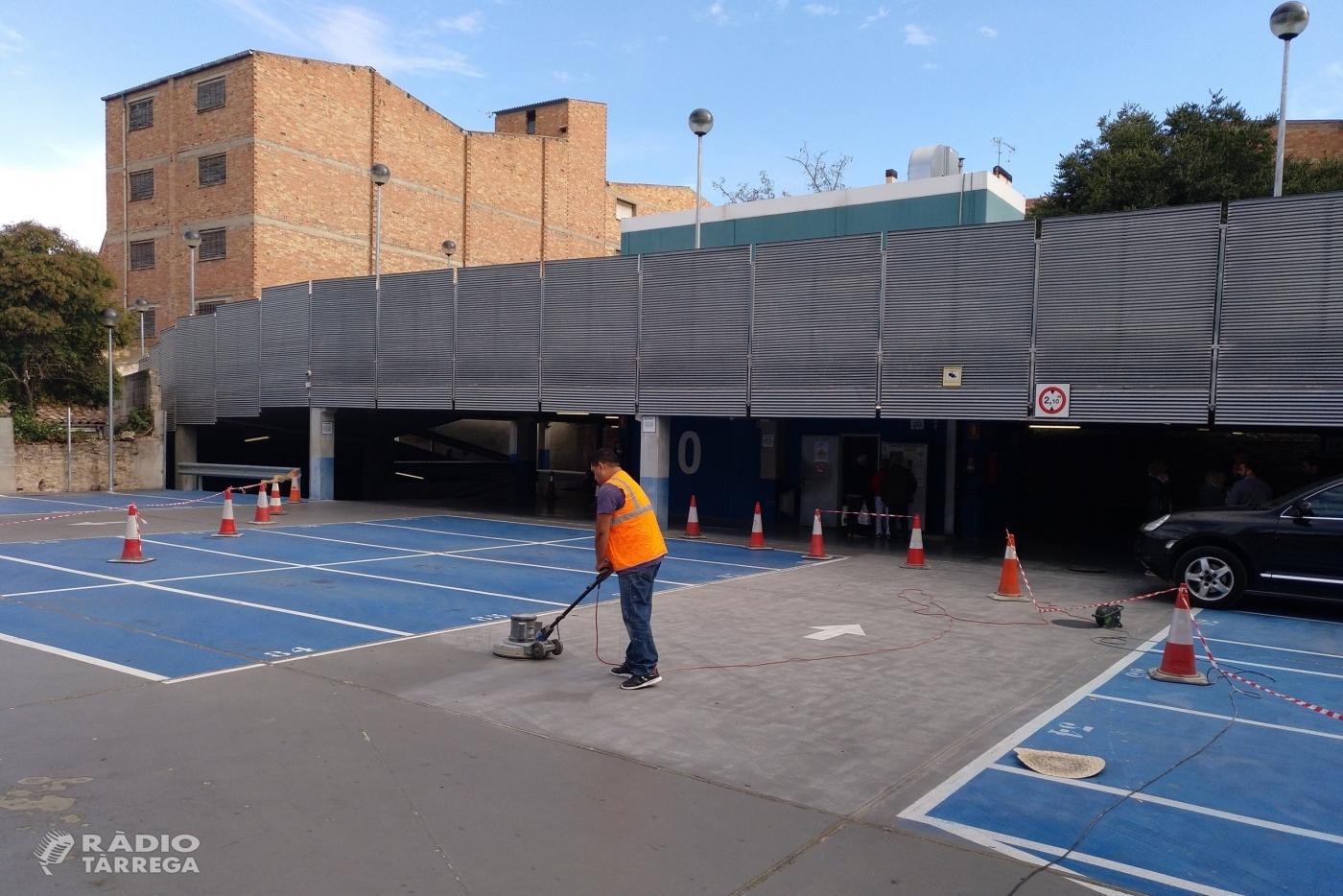 Tàrrega inicia treballs de millora al pàrquing municipal de l'avinguda de Catalunya, que romandrà tancat del 10 al 30 d'octubre