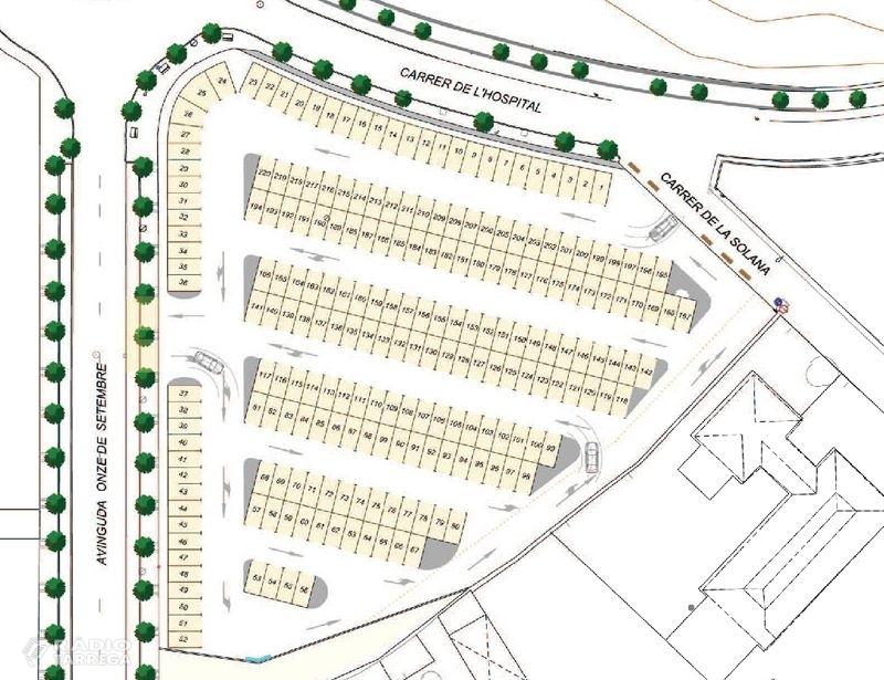 L'Ajuntament de Tàrrega aprova el projecte de millora de l'àrea d'estacionament situada a l'avinguda Onze de Setembre, que guanyarà en capacitat