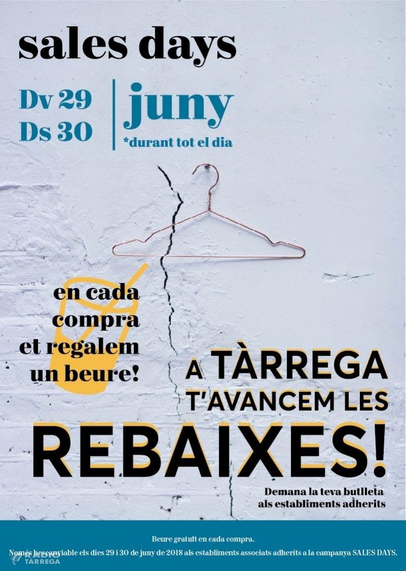 """Foment Tàrrega engega les rebaixes amb la campanya """"sales days"""""""