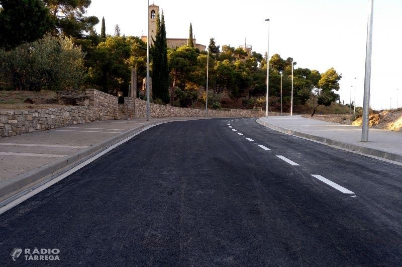 Tàrrega reobrirà al trànsit el carrer de La Pau la setmana vinent, un cop enllestides les obres d'adequació del vial
