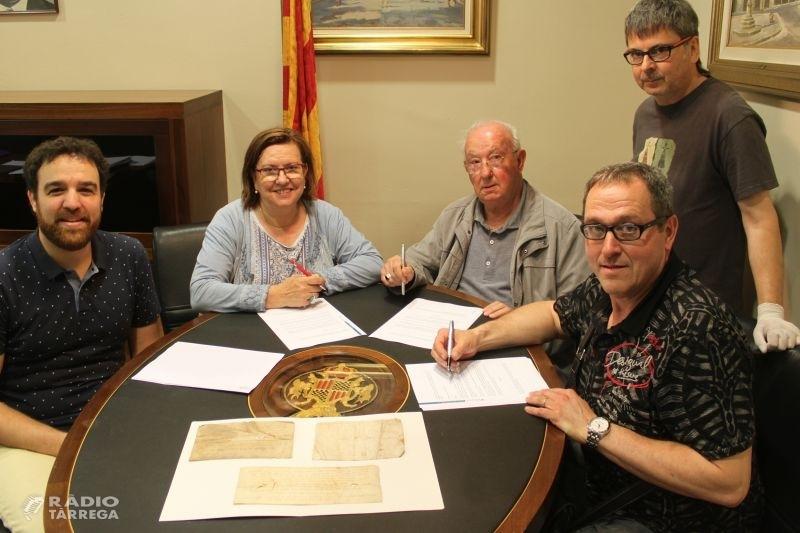 Tàrrega exposarà tres documents d'època medieval relacionats amb la comunitat jueva gràcies a un acord de cessió amb la Parròquia de Verdú