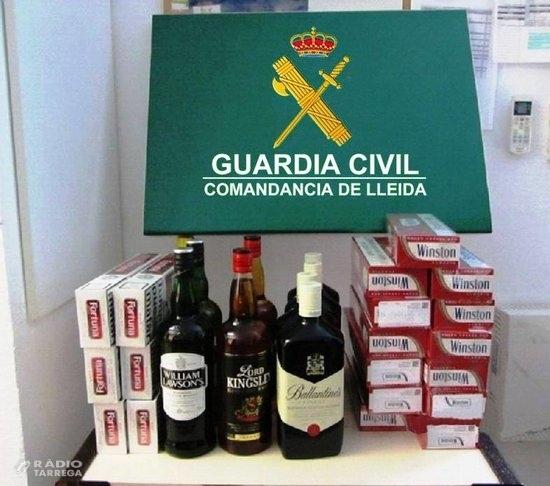 Comissen a Guissona tabac de contraban i alcohol per valor de mil euros