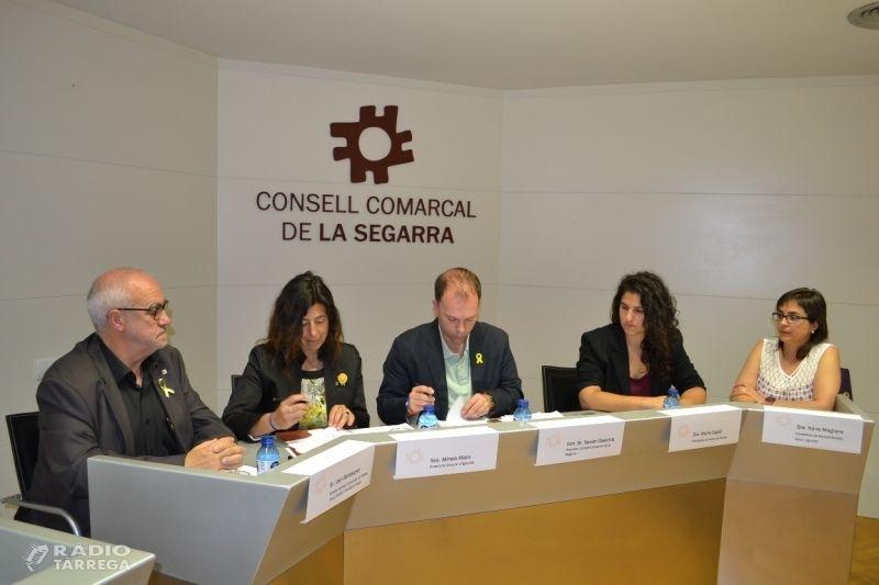 El Consell Comarcal de la Segarra, primera comarca de la plana de Lleida, que signa l'acord per la implementació del Servei d'Atenció Integral per a persones LGTBI