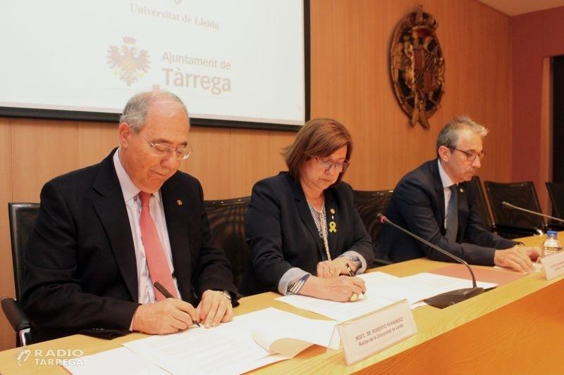 Tàrrega, primer municipi que acollirà una subseu del Centre de Formació Contínua de la UdL