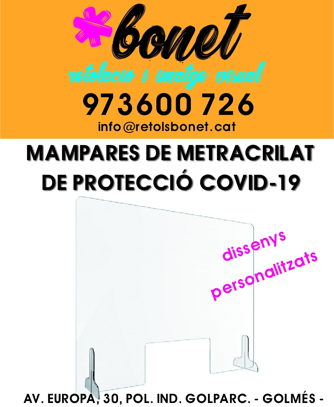 MAMPARAS PROTECCIÓN COVID19