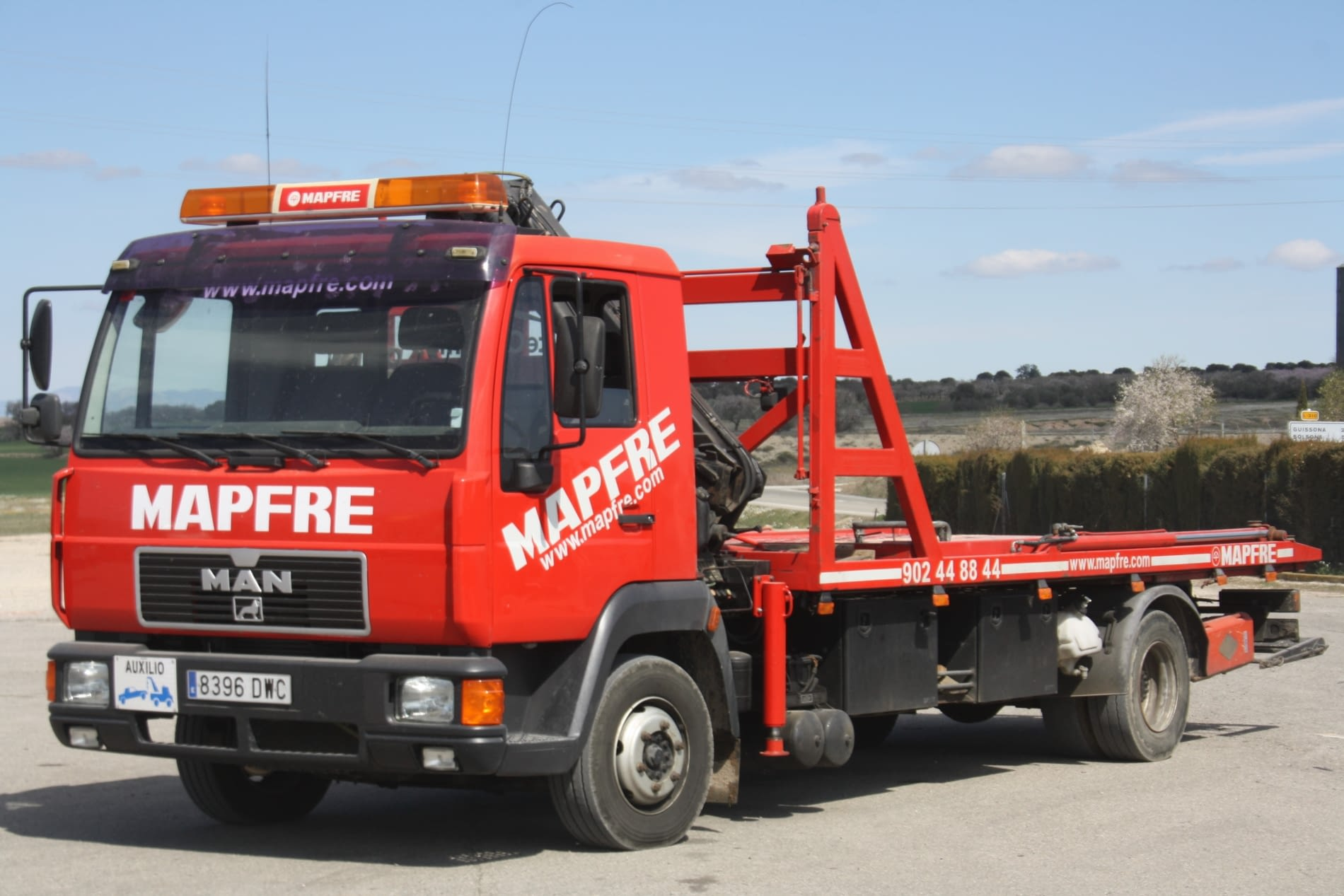 Camionet assistencia MAN mapfre