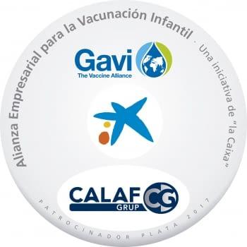 Calaf Grup patrocinadors Plata 2017 de l'Aliança Empresarial per a la vacunació infantil.