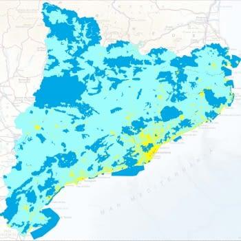 Mapa de qualitat del cel nocturn a Catalunya