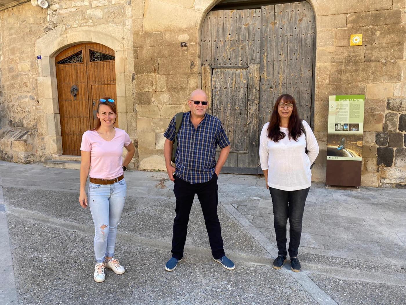 Un  periodista anglès s'interessa pel Camí ignasià a l'Urgell