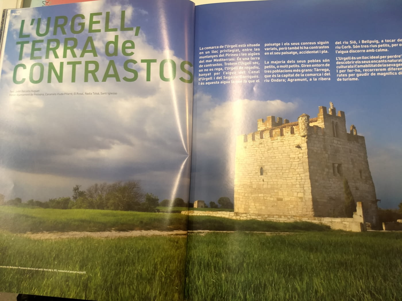 L'Urgell, terra de contrastos, a la revista Ara Lleida, juliol