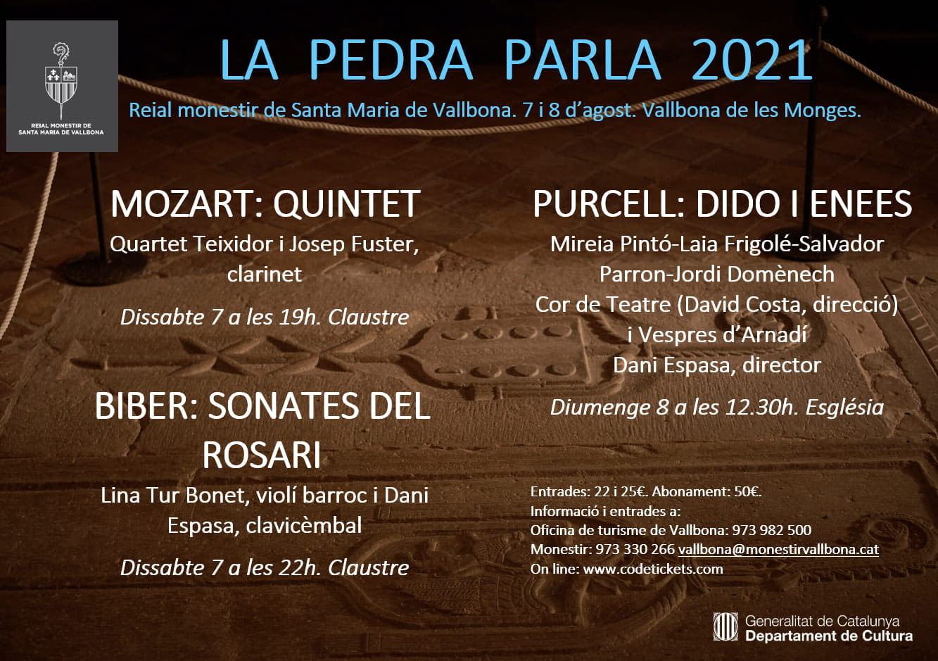 Cicle de concerts i visites guiades a l'agost  a Bellpuig, Tornabous i Vallbona de les Monges