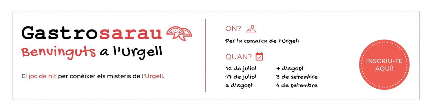 No et perdis els Gastrosaraus Benvinguts a l'Urgell, els dies 3 i 4 de setembre