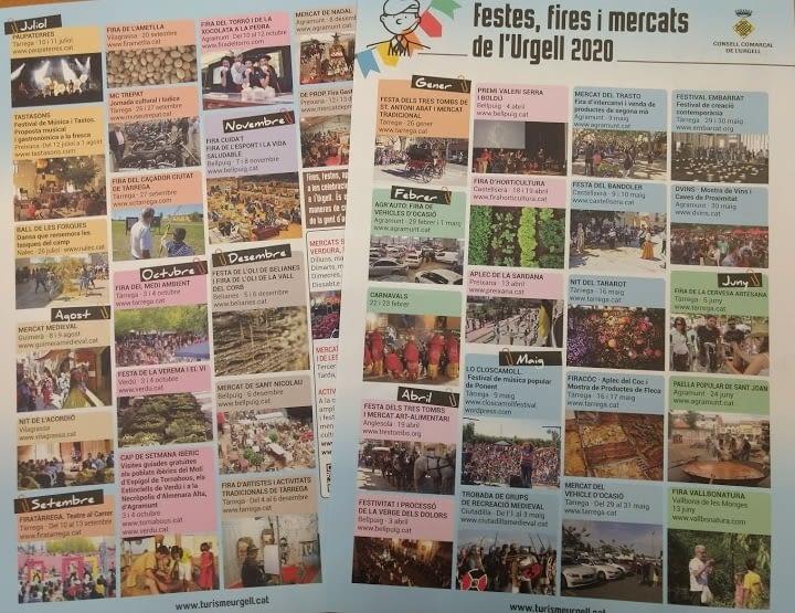 GUIA DE FESTES, FIRES I MERCATS DE L'URGELL 2020