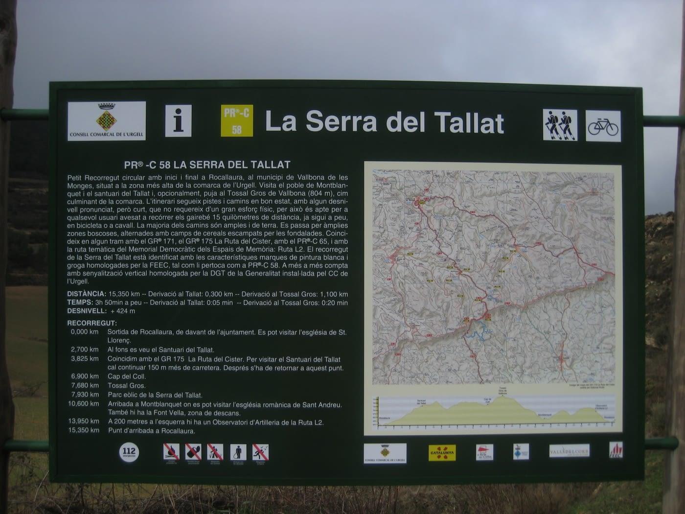 Renovació de senyals informatius als senders de l'Urgell