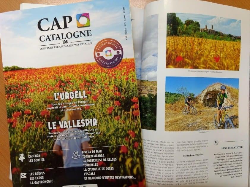 Interessant reportatge turístic a la revista  francesa Cap Catalogne