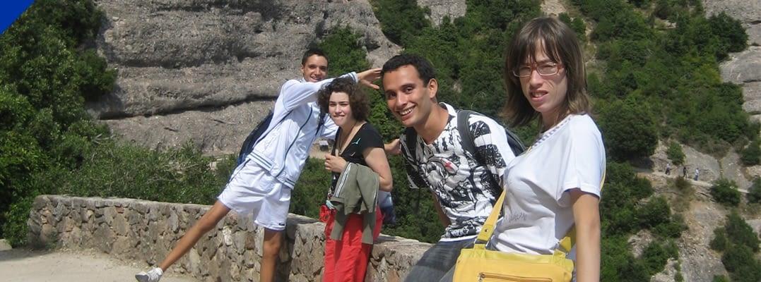 Sortida amb un grupet de joves a Montserrat