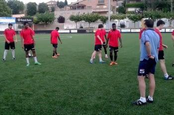 Preparació del partit de Copa Lleida