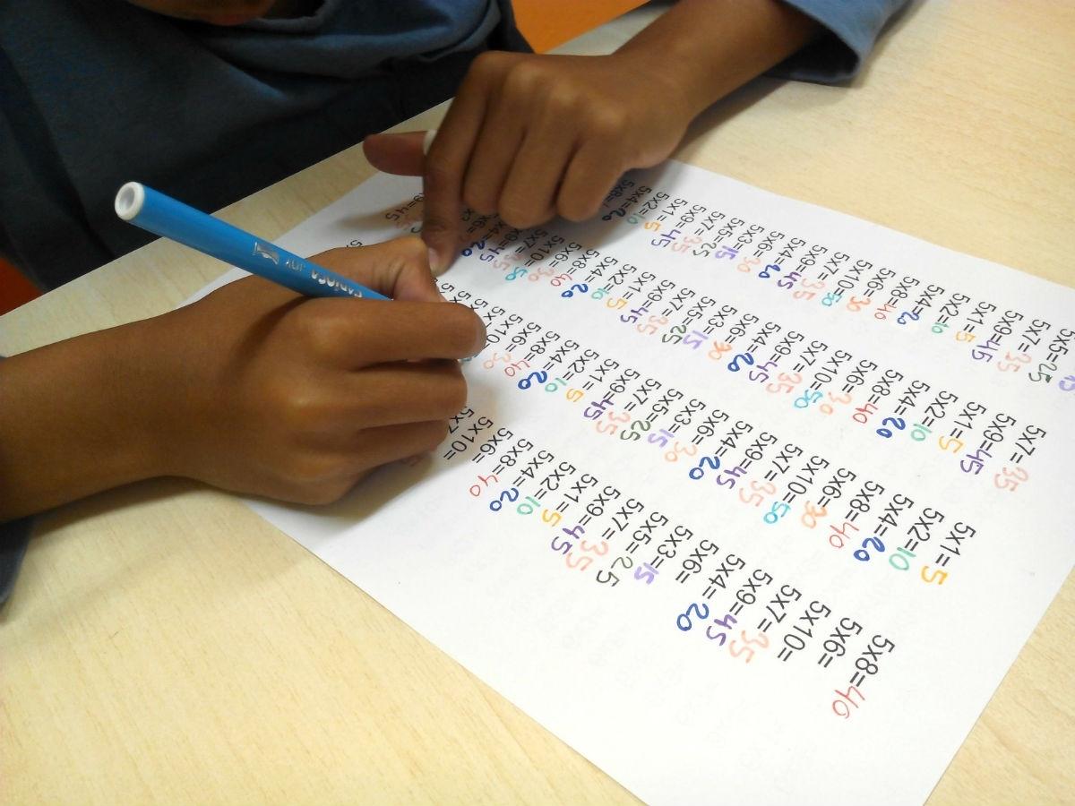 Le cuesta aprender las tablas de multiplicar?