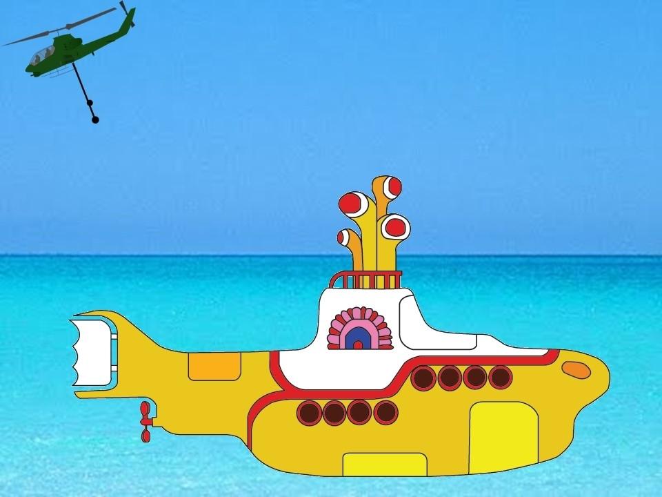 Cambia el helicóptero por el submarino