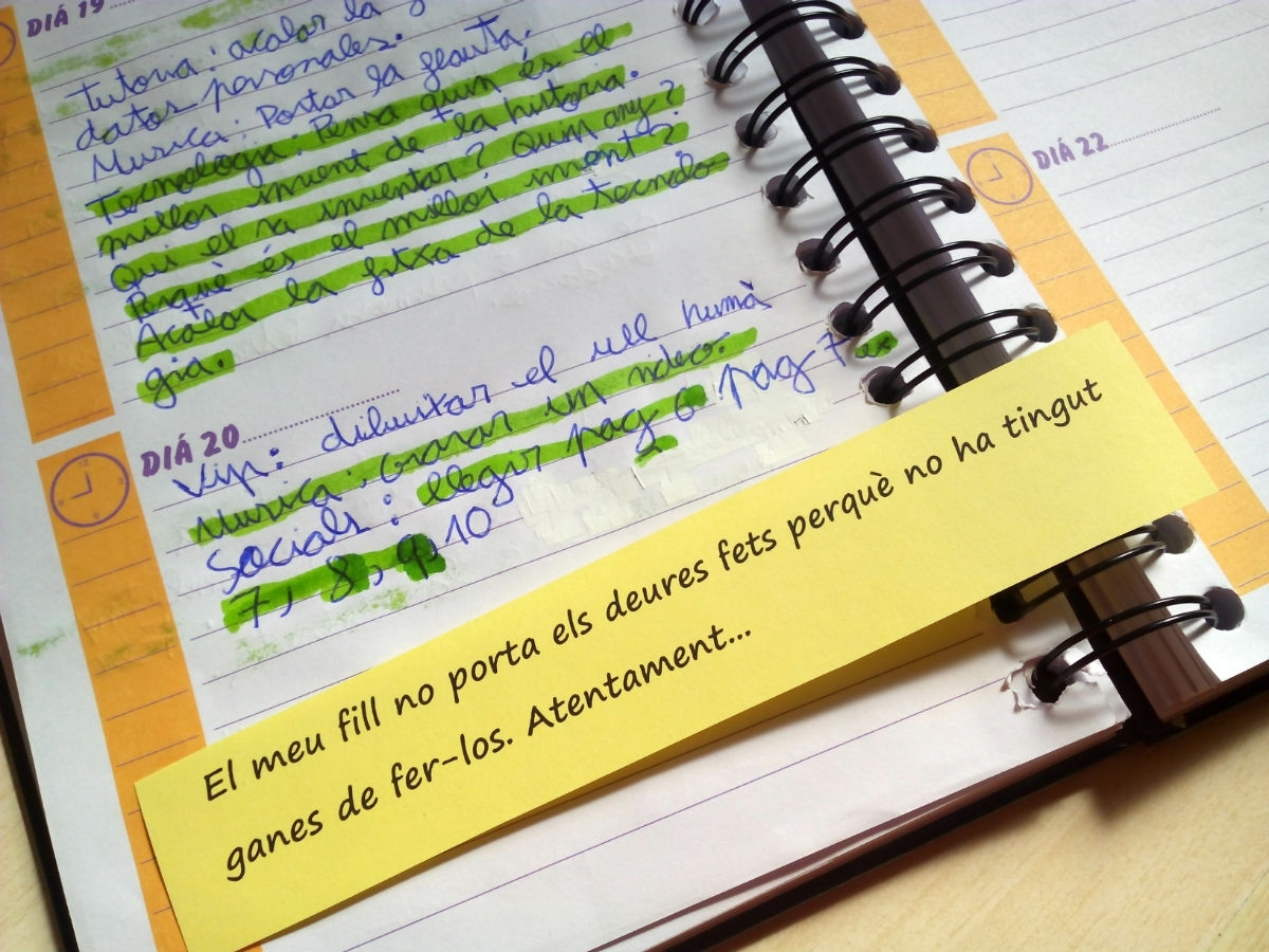 Escriuries aquesta nota a l'agenda del teu fill?