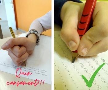 Insiste: le será más fácil si coge bien el lápiz