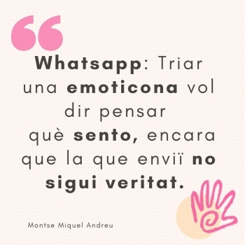 WhatsApp: Triar una emoticona vol dir ...
