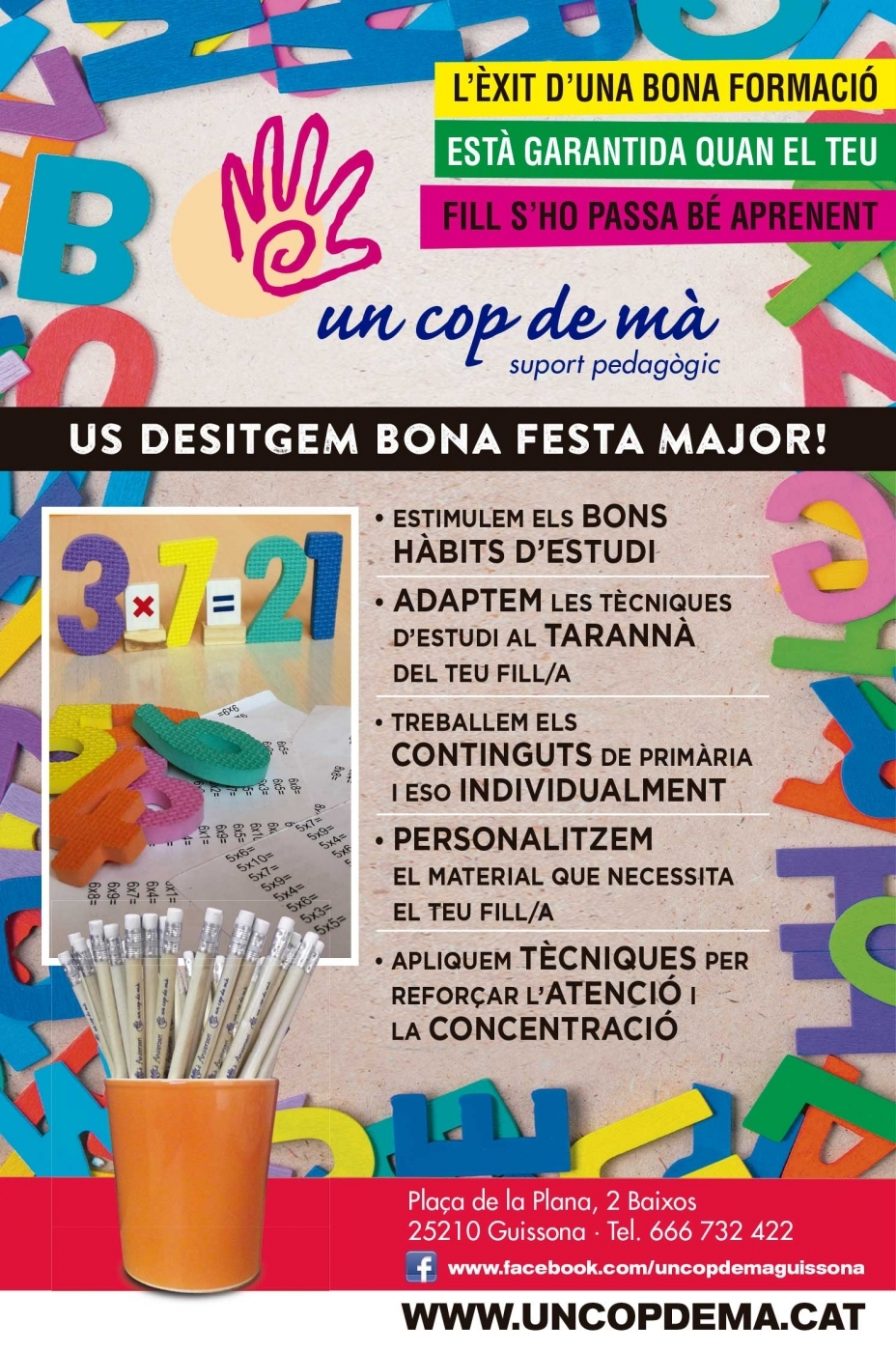 Us desitgem bona festa major!