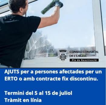 AJUTS per a persones afectades per un ERTO o amb contracte fix discontinu