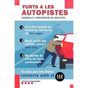 Mossos alerta sobre furts a les autopistes