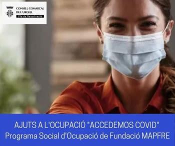 """Segona convocatòria extraordinària d'Ajuts a l'Ocupació """"Accedemos Covid"""" de la Fundació Mapfre, 2021"""