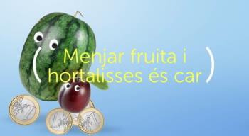 Fals mite: Menjar fruita i hortalisses és car