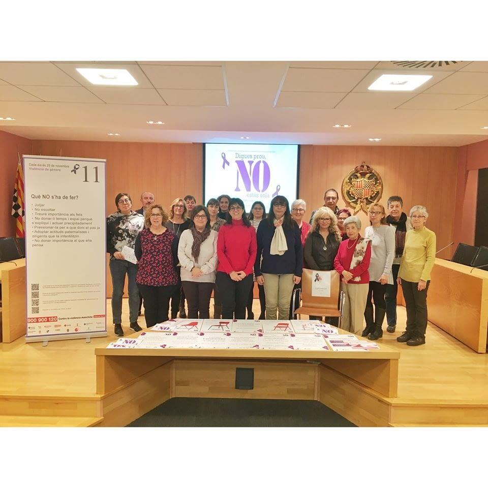 PRESENTACIÓ DE LA CAMPANYA DEL DIA INTERNACIONAL PER A L'ELIMINACIÓ DE LA VIOLÈNCIA ENVERS LES DONES