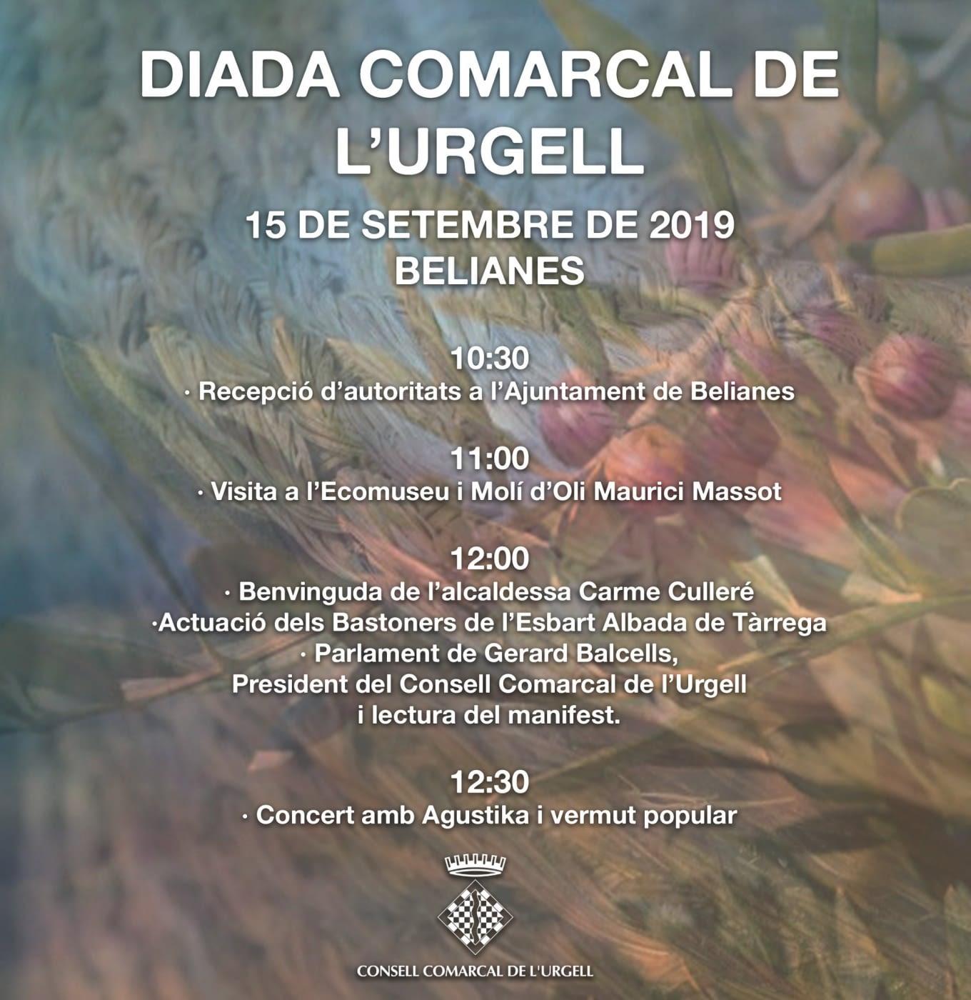DIADA DE LA COMARCA – 15 DE SETEMBRE