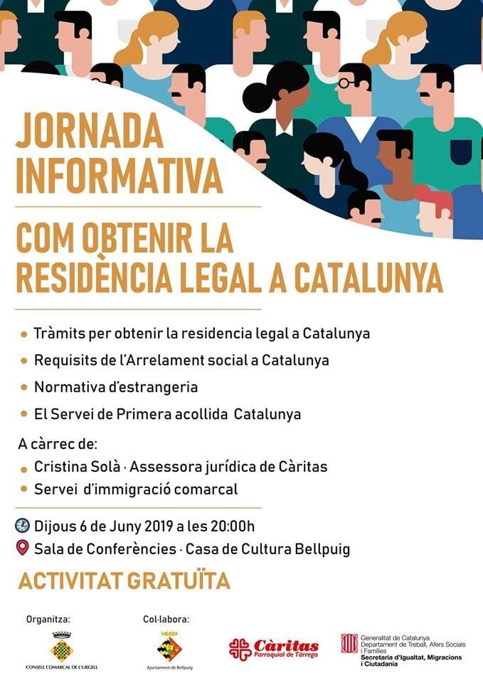 JORNADA INFORMATIVA DE COM OBTENIR LA RESIDÈNCIA LEGAL A CATALUNYA
