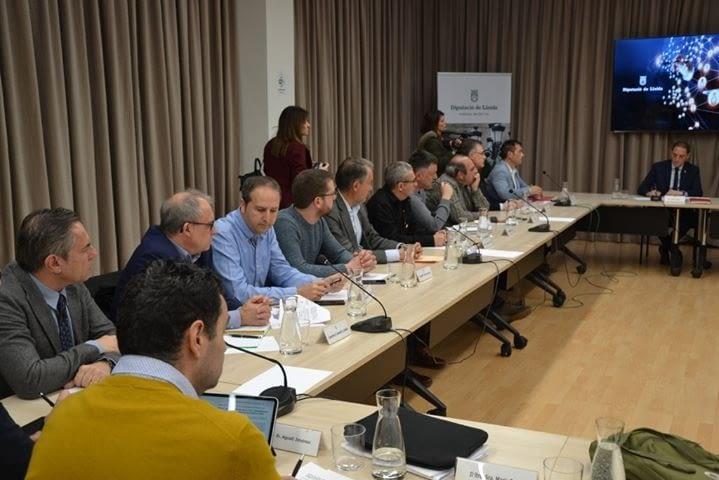 Trobada de la Plataforma per a  la millora de la línia de tren Lleida-Manresa